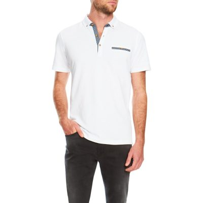 Fashion 4 Men - Tarocash Woods Pique Polo White M
