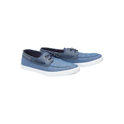 Fashion 4 Men - Tarocash Woven Slip On Shoe Navy 10