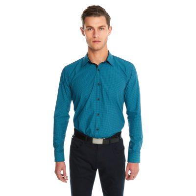 Fashion 4 Men - yd. Airlaw Slim Fit Shirt Teal M