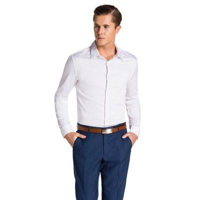 Fashion 4 Men - yd. Berners Muscle Fit Shirt White Xxxl