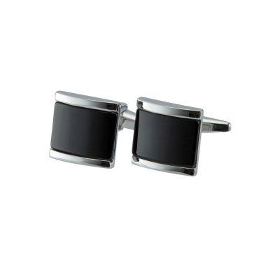 Fashion 4 Men - yd. Black Stone Cufflink Black One