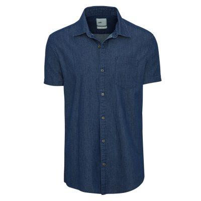 Fashion 4 Men - yd. Coltrane Ss Shirt Dark Blue S