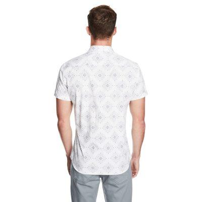 Fashion 4 Men - yd. Diamond Paisley Ss Shirt White Xs