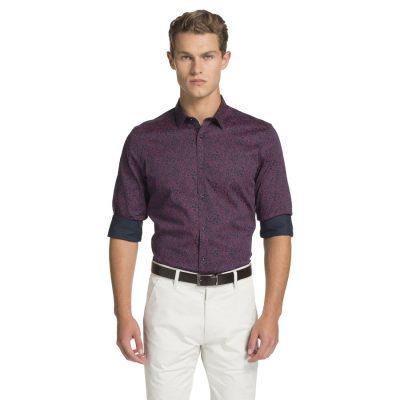 Fashion 4 Men - yd. Elvis Paisley Slim Fit Shirt Dark Blue M