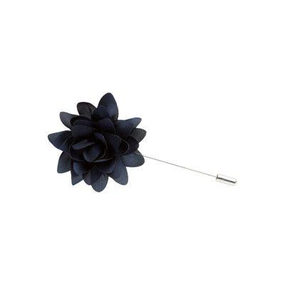 Fashion 4 Men - yd. Floral Lapel Pin Navy One