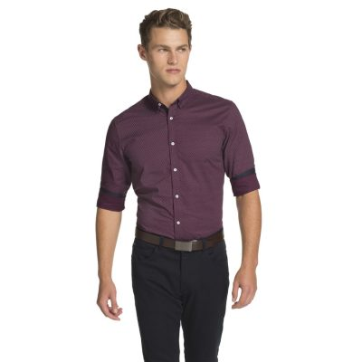 Fashion 4 Men - yd. Hardy Slim Fit Shirt Burgundy S