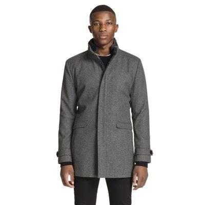 Fashion 4 Men - yd. Lennox Melton Jacket Charcoal 3 Xs