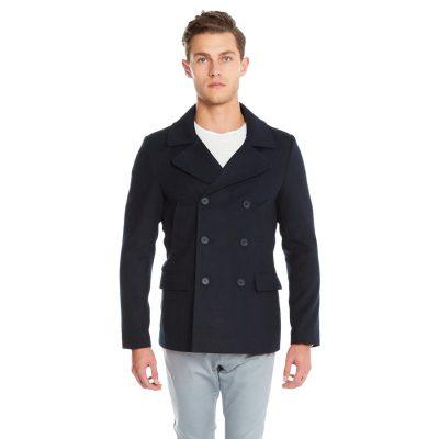 Fashion 4 Men - yd. Matsu Pea Coat Dark Blue 2 Xs