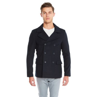 Fashion 4 Men - yd. Matsu Pea Coat Dark Blue L