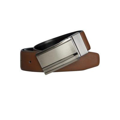 Fashion 4 Men - yd. Nix Dress Belt Whiskey/Blk 36