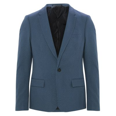Fashion 4 Men - yd. Ponte Blazer Slate Xs