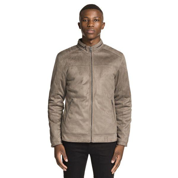 Fashion 4 Men - yd. Sammo Bomber Jacket Grey 3 Xs