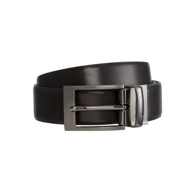 Fashion 4 Men - yd. Sax Dress Belt Chocolate 38