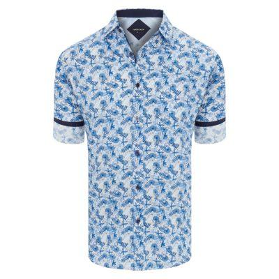 Fashion 4 Men - Tarocash Calabasas Print Shirt Blue Xl