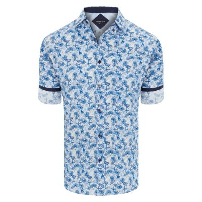 Fashion 4 Men - Tarocash Calabasas Print Shirt Blue Xxxl