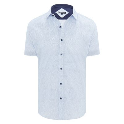 Fashion 4 Men - Tarocash Ditsy Floral Shirt Blue M