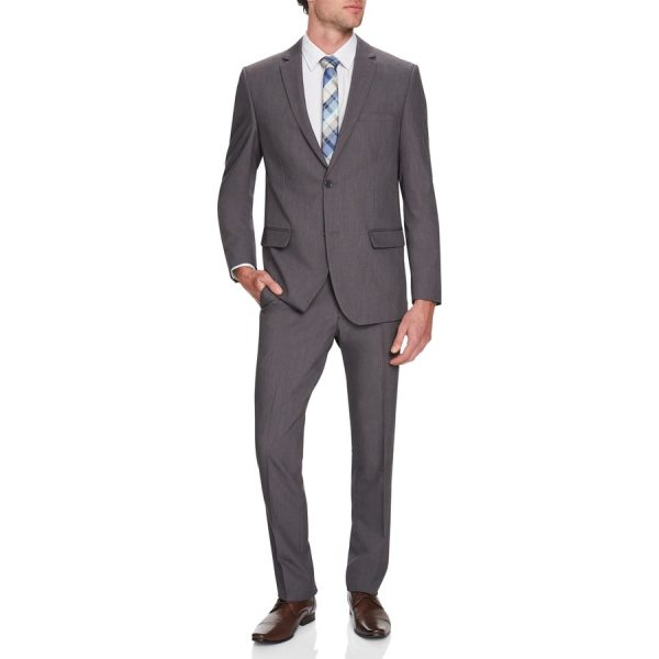 Fashion 4 Men - Tarocash Eugene Stretch 2 Button Suit Charcoal 32