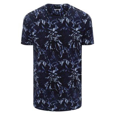 Fashion 4 Men - Tarocash Fern Print Tee Navy Xxl