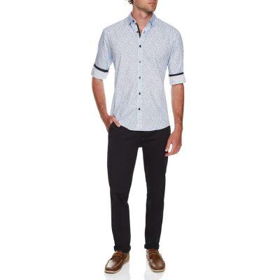 Fashion 4 Men - Tarocash George Paisley Print Shirt Blue M