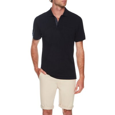 Fashion 4 Men - Tarocash Jacquard Stripe Polo Navy Xxl