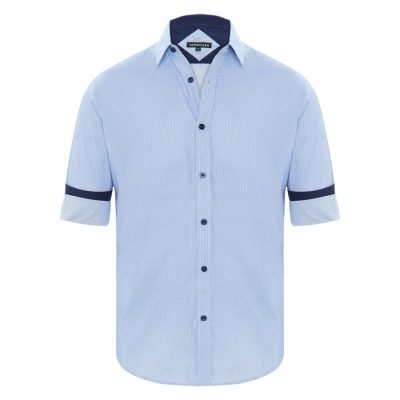 Fashion 4 Men - Tarocash Jonathan Print Shirt Blue Xxxl