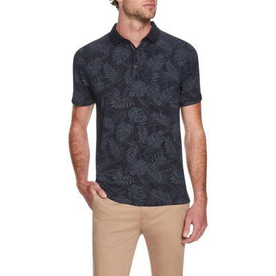Fashion 4 Men - Tarocash Jungle Print Polo Navy M
