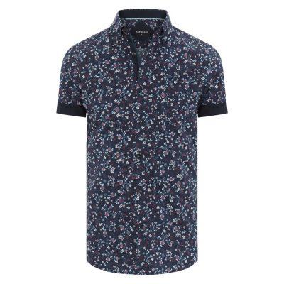Fashion 4 Men - Tarocash Libertine Floral Print Shirt Navy 4 Xl