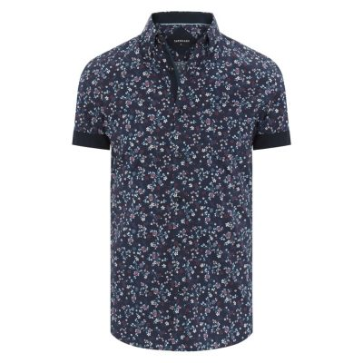 Fashion 4 Men - Tarocash Libertine Floral Print Shirt Navy M