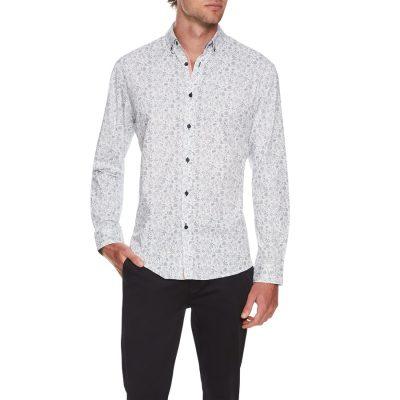 Fashion 4 Men - Tarocash Longbeach Print Shirt Blue Xxl