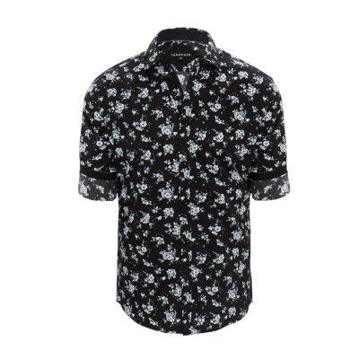 Fashion 4 Men - Tarocash Noir Floral Slim Print Shirt Black S