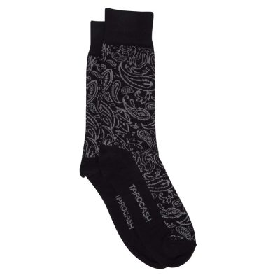Fashion 4 Men - Tarocash Paisley Jacquard Sock Charcoal 1