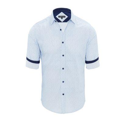 Fashion 4 Men - Tarocash Pascale Floral Shirt Blue L