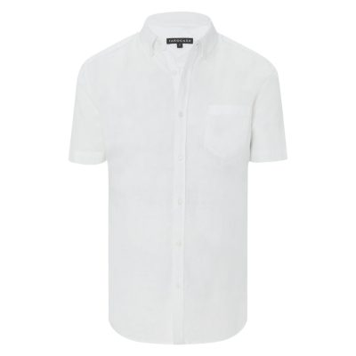 Fashion 4 Men - Tarocash Peterson Linen Blend Shirt White Xl