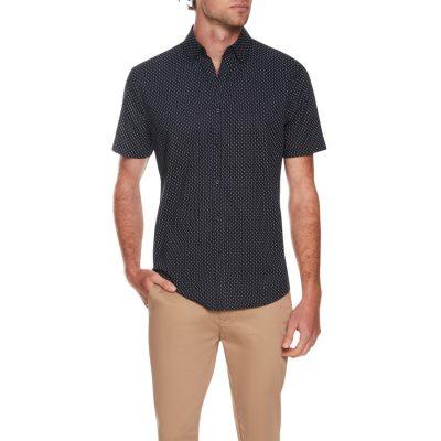 Fashion 4 Men - Tarocash Rosebery Print Shirt Navy S