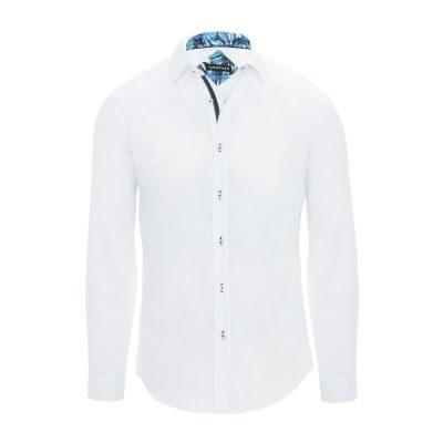 Fashion 4 Men - Tarocash Springs Slim Textured Shirt White Xl