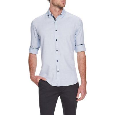 Fashion 4 Men - Tarocash Starr Textured Shirt Blue Xl
