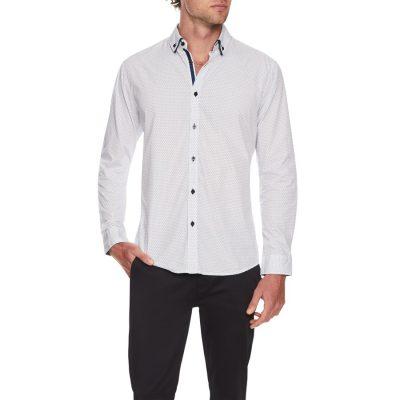Fashion 4 Men - Tarocash Submarine Print Shirt Blue S
