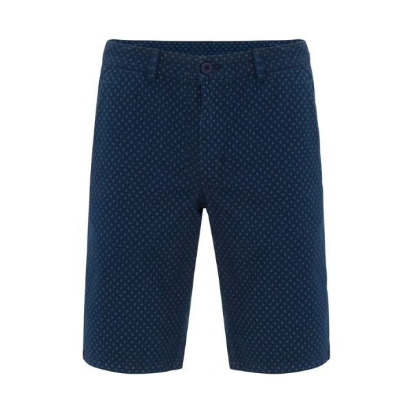 Fashion 4 Men - Tarocash Trevor Print Short Indigo 32