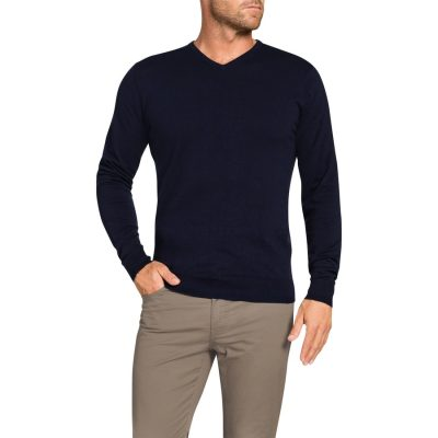 Fashion 4 Men - Tarocash V Neck Knit Navy Xxxl