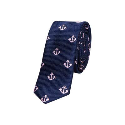 Fashion 4 Men - yd. Ahoy Anchor 5 Cm Tie Dark Blue One