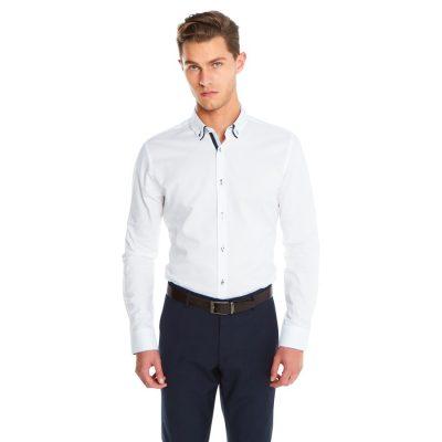 Fashion 4 Men - yd. Alvaro Slim Fit Dress Shirt White Xs
