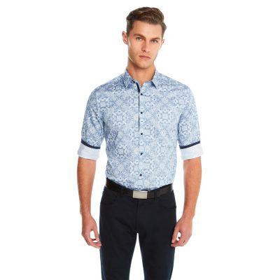 Fashion 4 Men - yd. Bandana Paisley Shirt White Xl