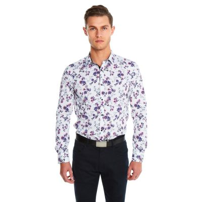 Fashion 4 Men - yd. Botany Slim Fit Shirt Multi Xxxl