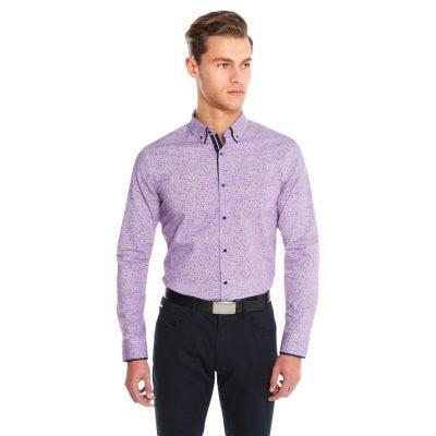 Fashion 4 Men - yd. Cabana Slim Fit Shirt Burgundy 2 Xs