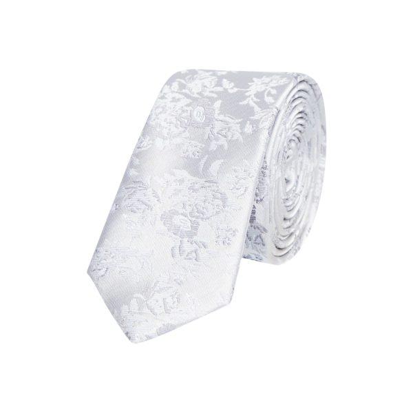 Fashion 4 Men - yd. Chrome Floral 5 Cm Tie Silver Floral One