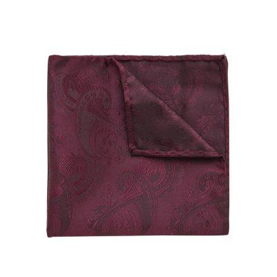 Fashion 4 Men - yd. Cordova Pocket Square Burgundy One