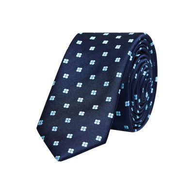 Fashion 4 Men - yd. Duanos 5 Cm Tie Navy/Aqua One