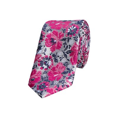 Fashion 4 Men - yd. Florence 6.5 Cm Tie Silver/Pink One