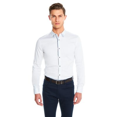 Fashion 4 Men - yd. Hendrick Muscle Fit Shirt White 3 Xs