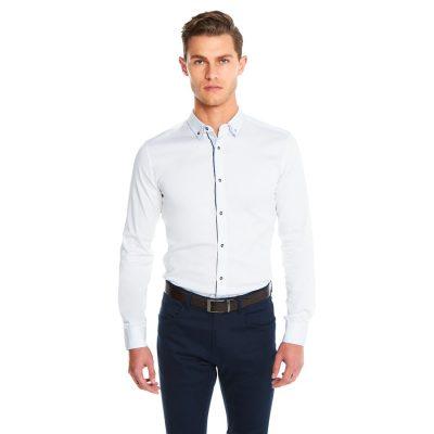 Fashion 4 Men - yd. Hendrick Muscle Fit Shirt White Xxxl